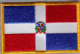 Dominican Republic Embroidered Flag Patch, style 08.